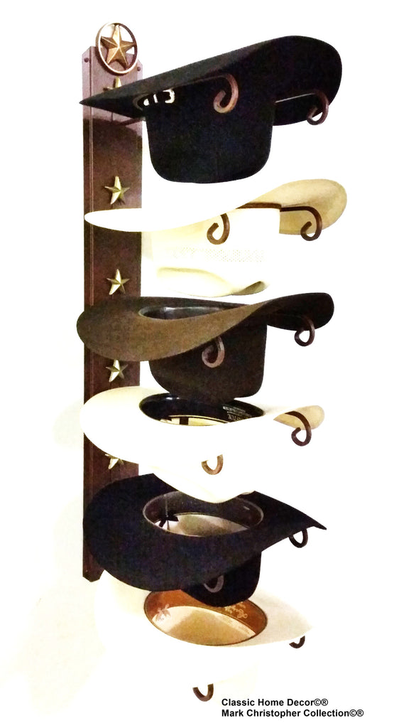Cowboy Hat Rack Wall Lone Star