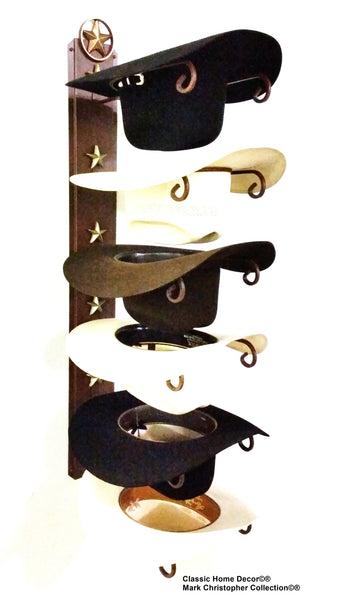 67a01e77db8 Cowboy Hat Holder STAR 886 Cast Iron Lone Star CT American Made 6 Tier Hat  Rack