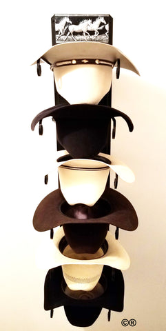 Mark Christopher Collection Running Horse Hat Holder Black  Made in the USA
