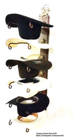 Cowboy Hat Holder STAR 886 Cowboy Roper CT American Made 6 Tier Hat Rack