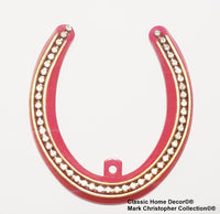 Copy of Lucky Lady Horseshoe with Rhinestones Red