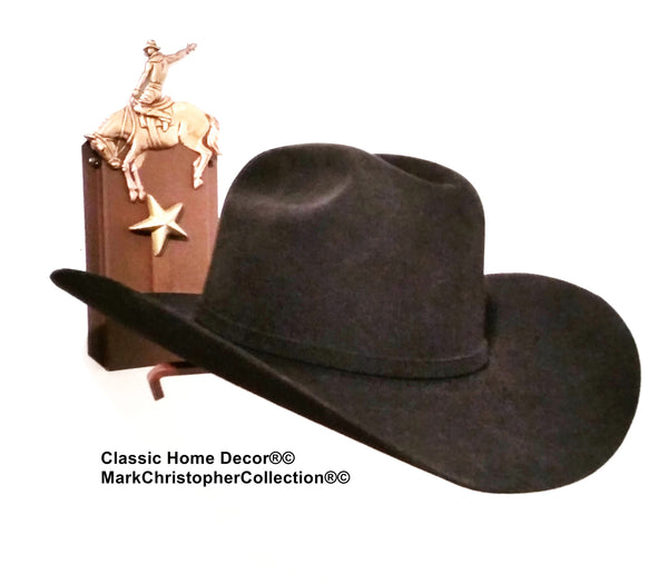 Cowboy Hat Holder Single with Stars  891 Bronc Rust