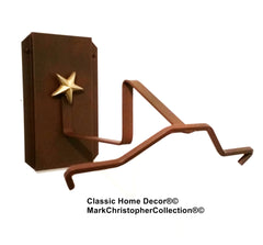 Cowboy Hat Holder Single with Stars  891 Rust