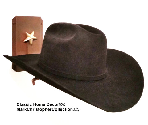 American Made Cowboy Hat Holder Single with Stars  891 Rust
