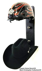 American Made Equestrian riding/Motorcycle helmet holder Double 892MHH BLK CH/BLK