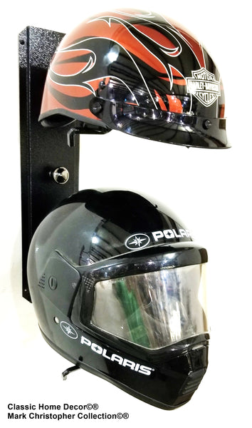 Equestrian riding/Motorcycle helmet holder Double   892MHH BLK CH/BLK