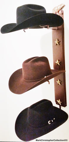 Cowboy Hat Holder BearTriple with Stars  893 Bear