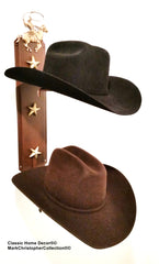 American Made Cowboy Hat Holder Double with Stars  892 ROPER RUST
