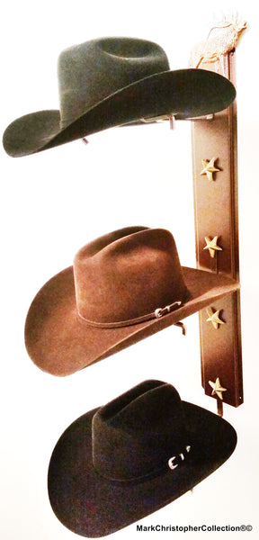Cowboy Hat Holder Elk Triple with Stars  893 ELK