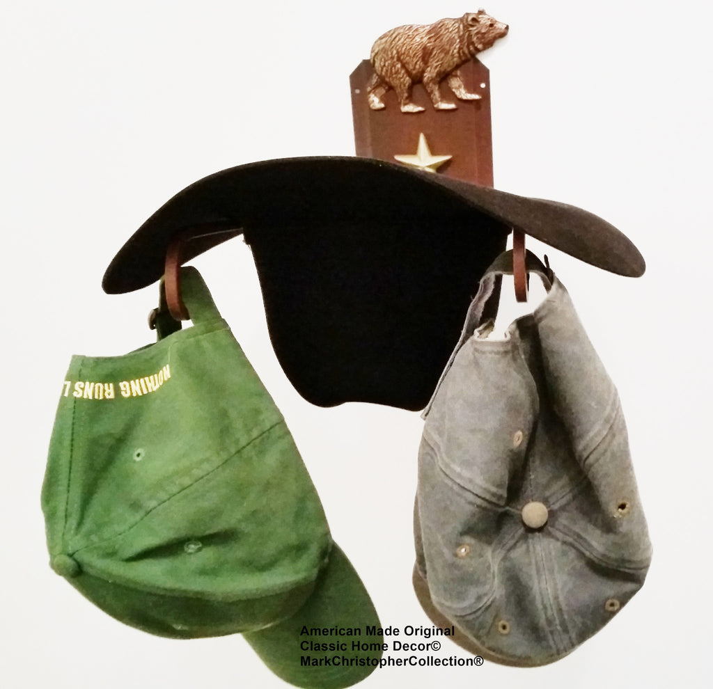 Cowboy Hat Holder Bear CT American Made