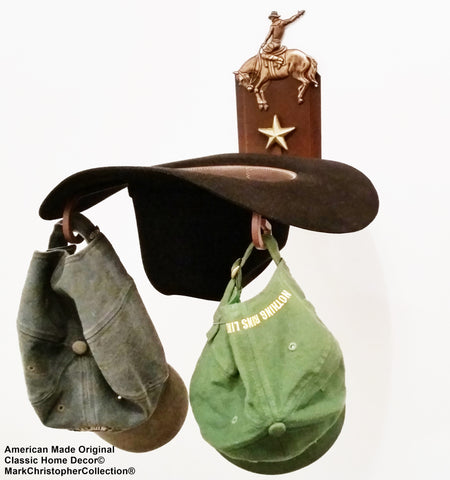 American Made Cowboy Hat Holder Bronc CT