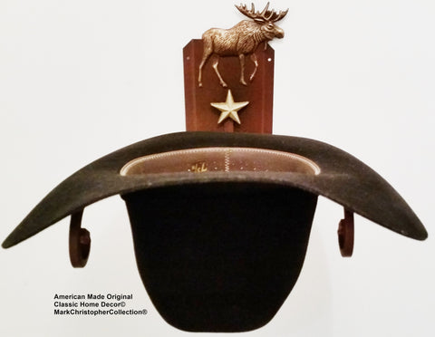 American Made Cowboy Hat Rack Moose CT