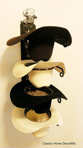 Cowboy Hat Holder Roper American Made Black/Silver