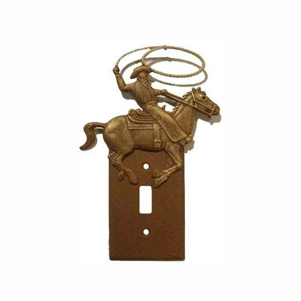 Single Switch Plate Cowboy Roper