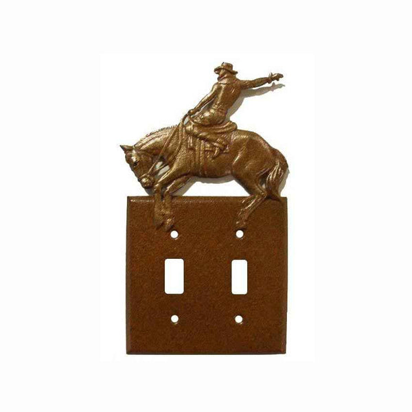 Double Switch with Bronc Rider / Chisholm Trail with Hand Finish