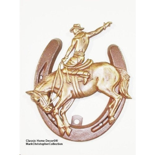 Lucky Lady Horseshoe with Bucking Bronco