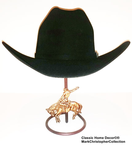Cowboy Hat Stand with Bucking Bronc CT