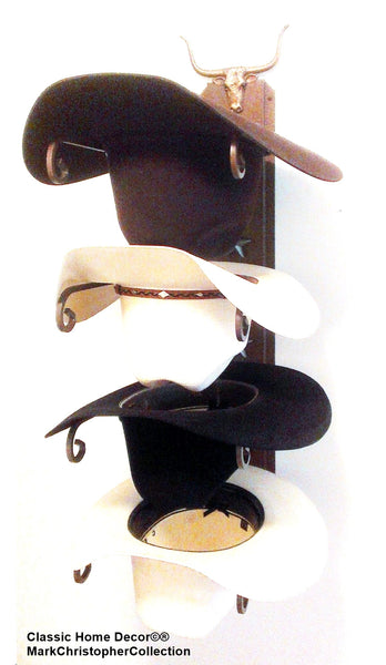 Cowboy Hat Holder Longhorn American Made