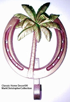 Lucky Lady Horseshoe Hook with Palm