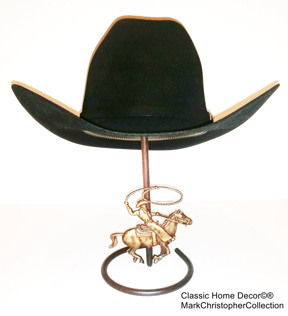American Made Cowboy Hat Stand with Cowboy Roper CT