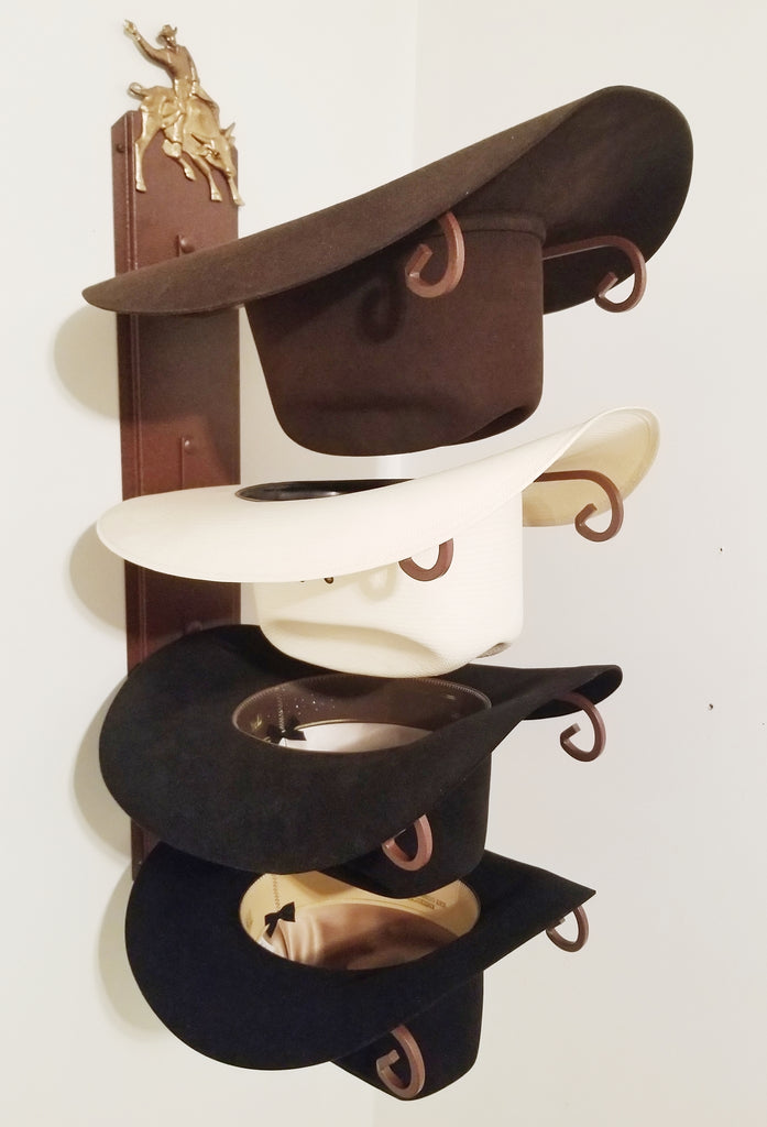American Made Hat Holder 664 Classic with Bull Rider CT