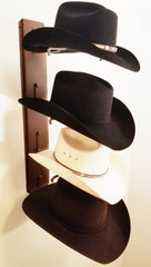 American Made Crown Up Four Hat Rack Rust by Mark Christopher Collection