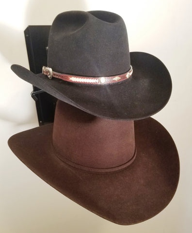 American Made Crown Up Two Hat Rack Black by Mark Christopher Collection