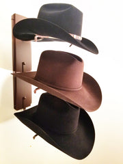American Made Crown Up Three Hat Rack Rust by Mark Christopher Collection
