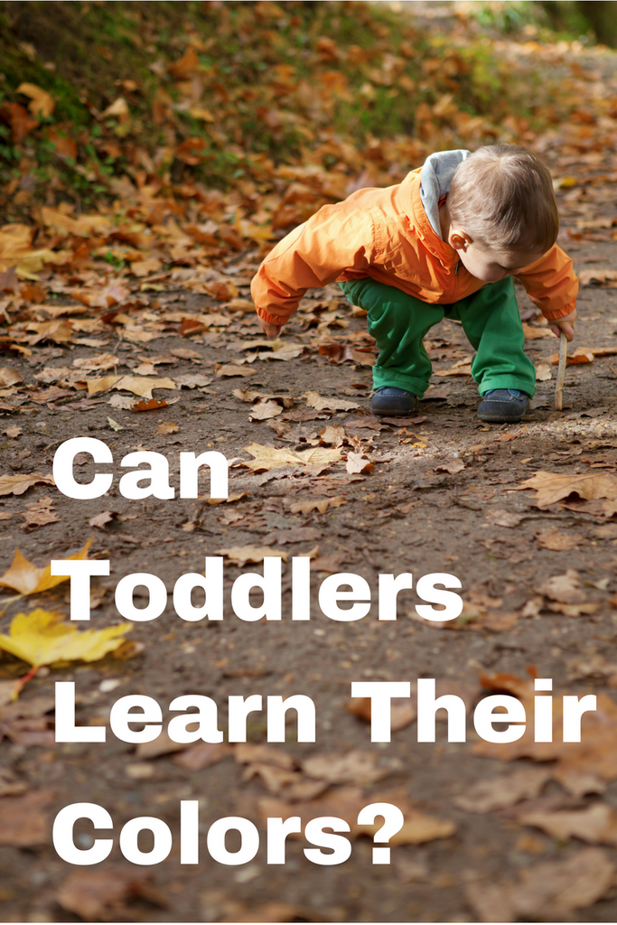 Can toddlers learn their colors?