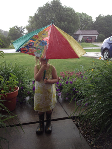 umbrellas and kids just go together