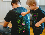 Matching Space Shirts for Dad and Kids