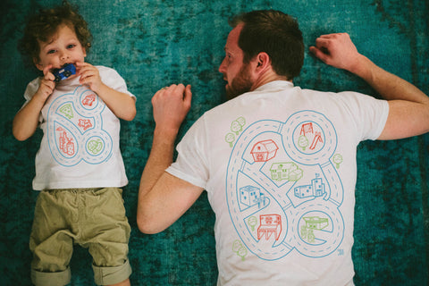 Matching Car Shirts for Dad and Kids