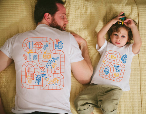 Matching Train Shirts for Dad and Kids
