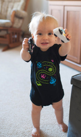 Outer Space Bodysuit for Baby