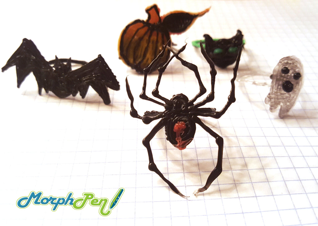 Halloween rings made with 3D Printing Pen