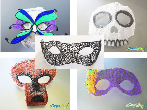 Five 3D Pen Halloween Mask Ideas