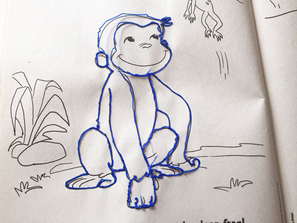 Line drawing curious george 3D pen