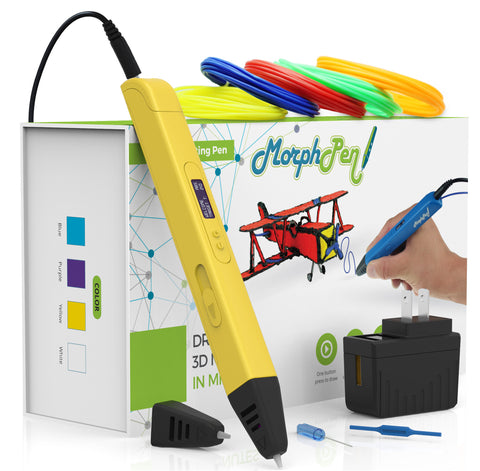 MorphPen 3D Printing Pen (Yellow)