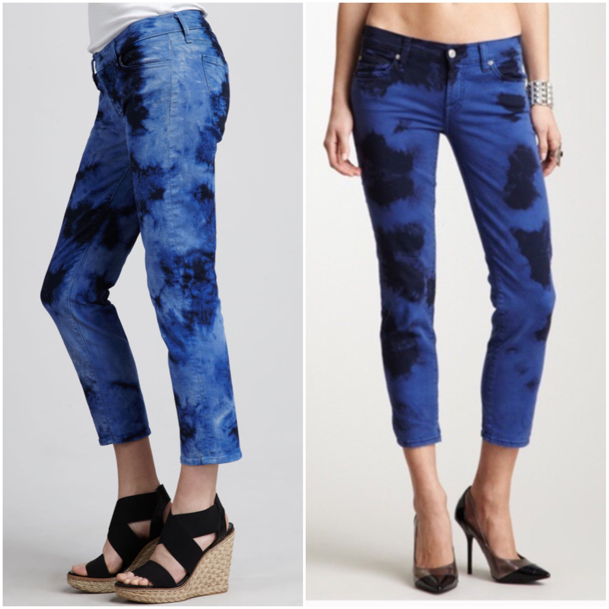7 for all mankind the crop Roxanne in tie dye