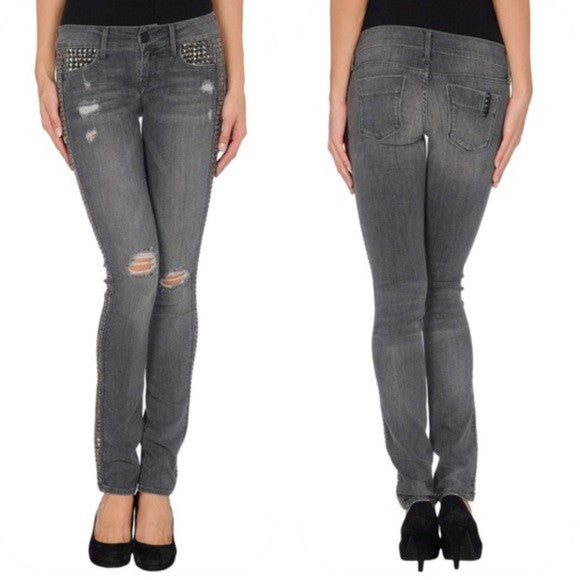 Black Orchid Black Jewer Studded Skinny