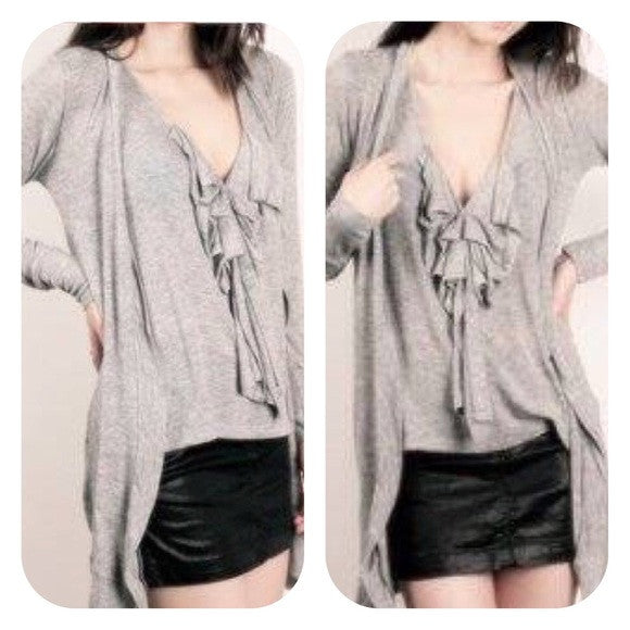 Monrow Knit Bow Top