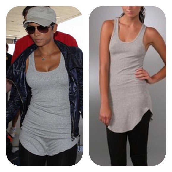 Riller and Fount Race Back Long Tank Top