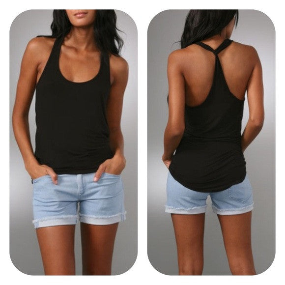 Riller and Fount Scoop-Neck Jersey Tank Top