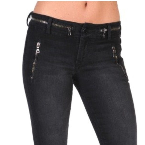 Black Orchid Zipper Skinny Bootcut Evony