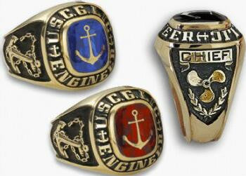 14K USCG Licensed Captain or Engineer Class Ring