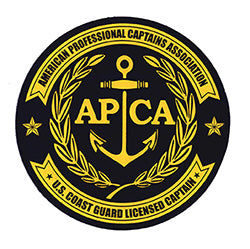 decal with American Professional Captains Association logo