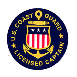 decal with US coast licensed captain logo