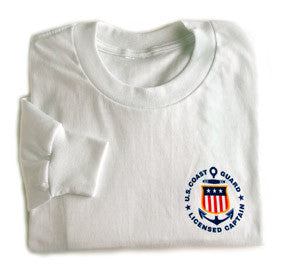 USCG Licensed Captain T-Shirt with Long Sleeves