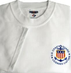 USCG Licensed Captain T-Shirt with Short Sleeves