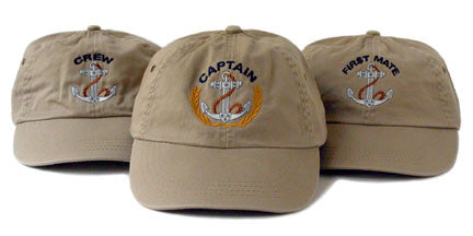Captain, First Mate, Crew Hats